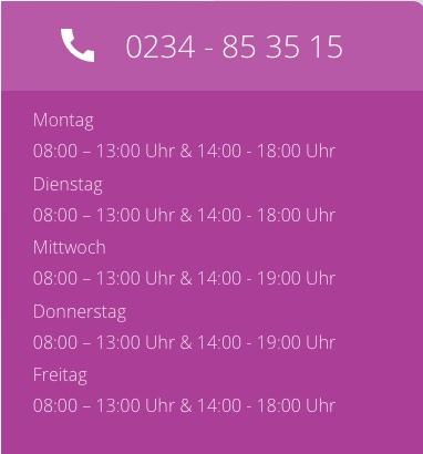 geänderte Öffnungszeiten vom 17.7.17 - 25.8.17